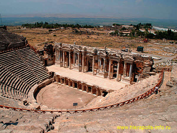 The roman theatre in ancient Hierapolis (Asia Minor, Turkey)