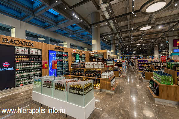 магазин  Unifree Duty Free в аэропорту Даламан в Турции