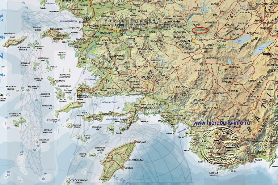 Денизли улицы, Денизли карта Турция, фото | Karta