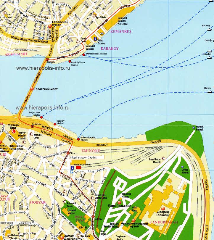 Карта Эминеню в Стамбуле