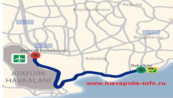 порт Стамбула, схема движения